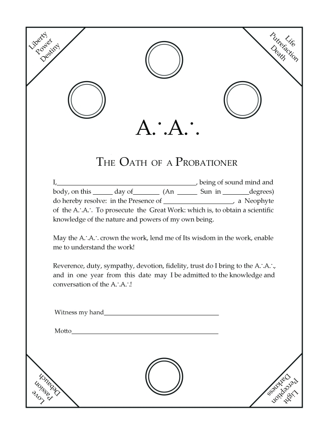 Oath of the Probationer