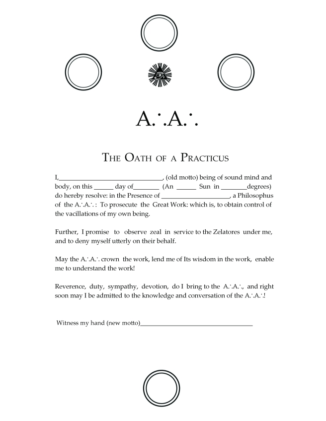 Oath of the Practicus