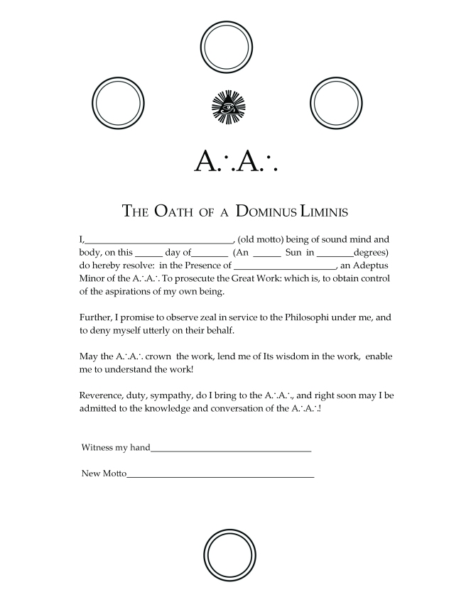 Oath of the Dominus Liminis