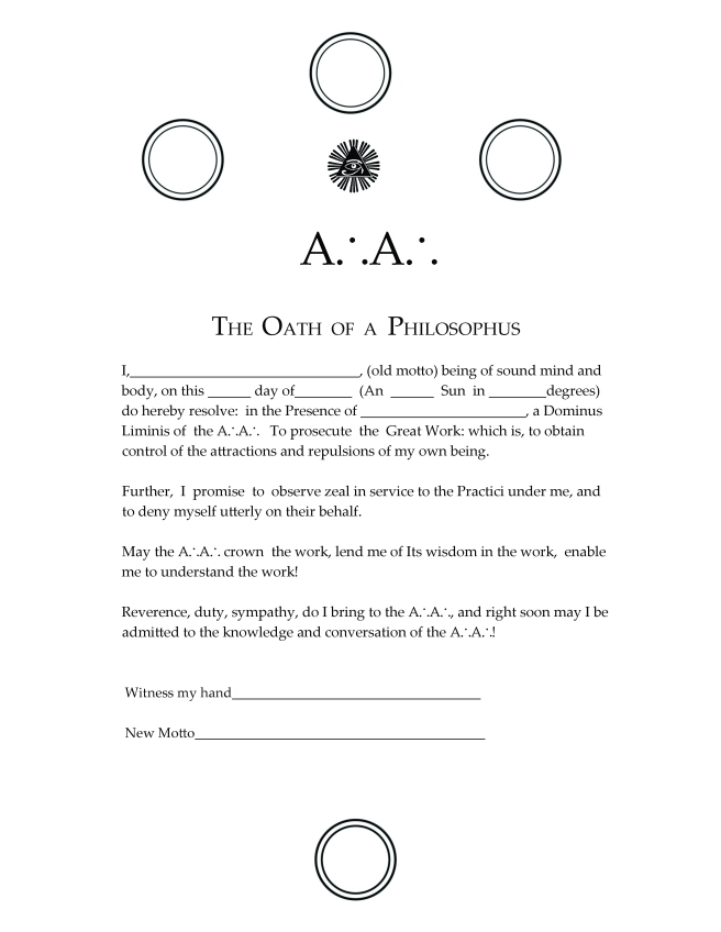 Oath of the Philosophus